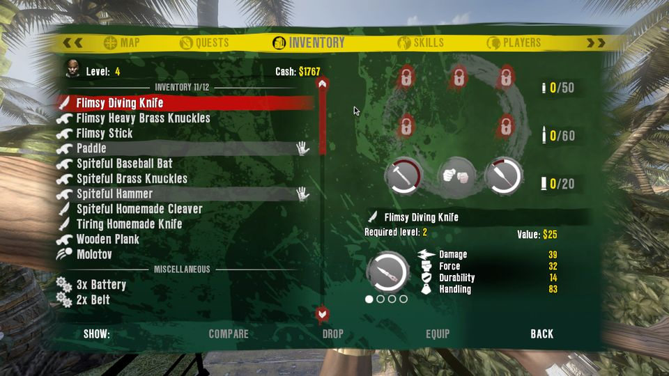 Dead Island Inventory